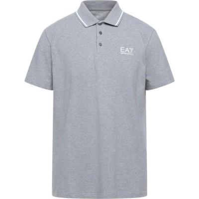 イーエーセブン EA7 メンズ ポロシャツ トップス Polo Shirt Light grey