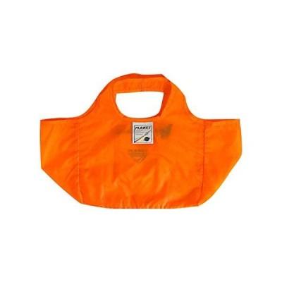 ニックナック クシュッと小さく 折りたたみ 「てのひらコンビニ エコバッグ」 マチつき オレンジ コンビニ用にぴったり 02894-05