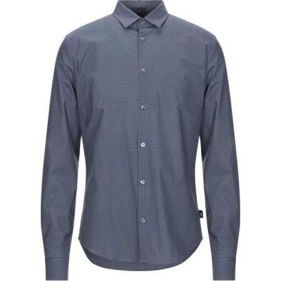 アルマーニ EMPORIO ARMANI メンズ シャツ トップス patterned shirt Slate blue