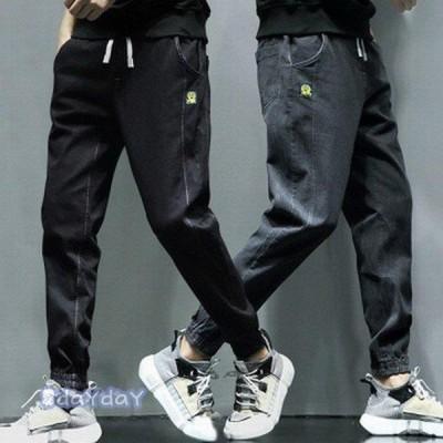 ジーンズ テーパードパンツ メンズ ズボン 九分丈 ジョガーパンツ カジュアル ズボン 青年と少年 ゆったり 春秋 大きいサイズ オシャレ ファッション 通勤紳士