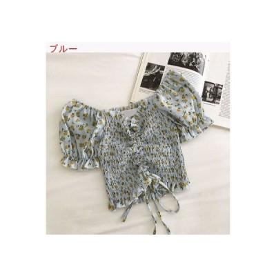 【送料無料】ミニ丈 スモールシャツ 女 夏 韓国シリーズ スウィート レト | 346770_A62893-7805828