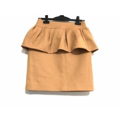 ニジュウサンク 23区 スカート サイズ36 S レディース 美品 オレンジ【中古】