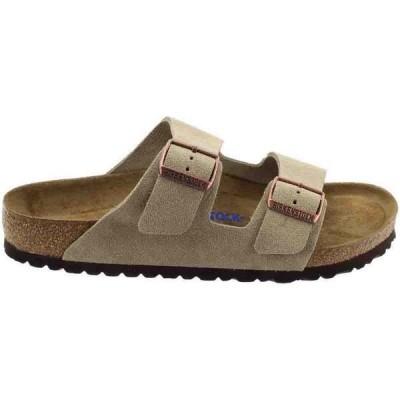 ビルケンシュトック メンズ サンダル シューズ Arizona Soft Footbed Suede Leather Sandal