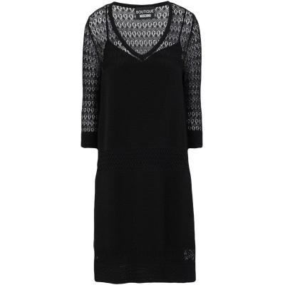 BOUTIQUE MOSCHINO ミニワンピース&ドレス ブラック 44 レーヨン 65% / ナイロン 35% ミニワンピース&ドレス