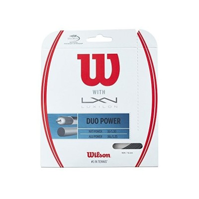 ウィルソン Wilson Duo Power 16g ハイブリッド テニス Racket ストリング (Luxilon ALU Pow(海外取寄せ品)