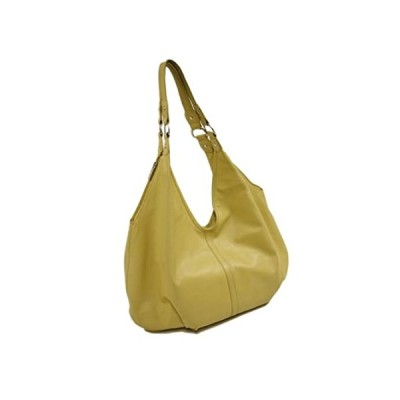 Piel Leather Large Hobo, Yellow, One Size