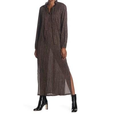シーユースーン レディース ワンピース トップス Neck Tie Striped Dress PURPLE