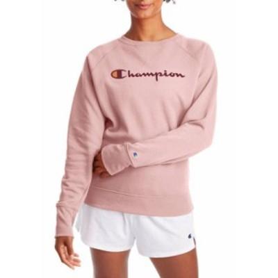 チャンピオン レディース パーカー・スウェット アウター Boyfriend Crew Graphic Sweatshirt Hush Pink