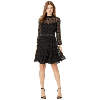 レベッカテイラー レディース ワンピース トップス Long Sleeve Velvet Dot Dress