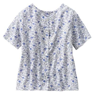 ウィメンズ 半袖プリンテッドツーウェイシャツ