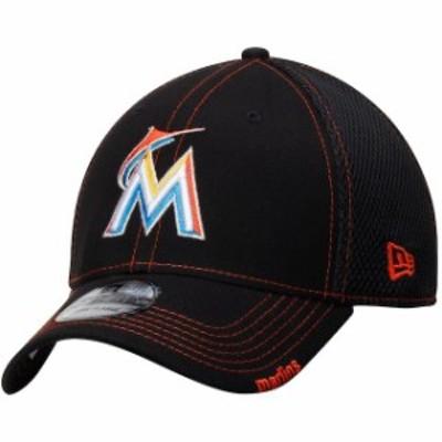 New Era ニュー エラ スポーツ用品  New Era Miami Marlins Black 2018 Neo 39THIRTY Flex Hat