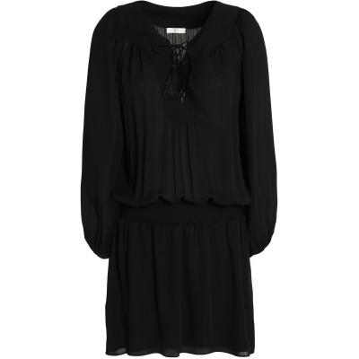 ジョア JOIE ミニワンピース&ドレス ブラック XXS シルク 100% ミニワンピース&ドレス