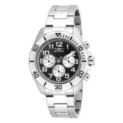 腕時計 インヴィクタ Invicta メンズ Pro Diver Japanese VD54 ブラック ダイヤル ステンレス スチール ブレスレット 腕時計