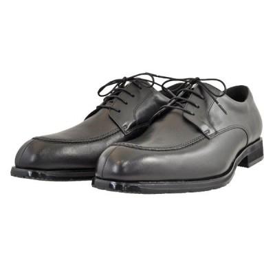 メンズ 靴 ビジネスシューズ アビーロード 抗菌 防水 幅広 4E Uモカ 外羽根 オックスフォード ブラック AB6503BLA