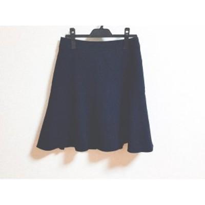 ニジュウサンク 23区 スカート サイズ38 M レディース ネイビー【中古】20190802
