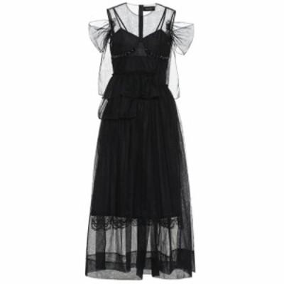 シモーネ ロシャ Simone Rocha レディース ワンピース ワンピース・ドレス Tulle midi dress Black/Jet