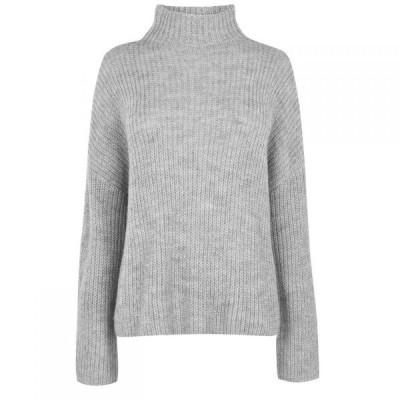 ヴィラ Vila レディース ニット・セーター トップス Glippa Long Sleeve Knit Jumper Grey Melange