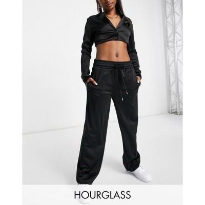 エイソス レディース カジュアルパンツ ボトムス ASOS DESIGN Hourglass tricot sweatpants with pintuck front in black Black