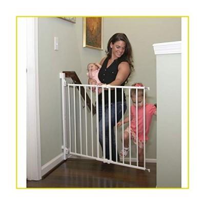 送料無料 ゲート Qdos Extending SafeGate Baby Gate - Meets Tougher European Standards - Angle Mount Capable - Templates for Easy Insta