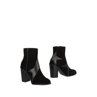 STIU ショートブーツ ファッション  レディースファッション  レディースシューズ  ブーツ  その他ブーツ ブラック