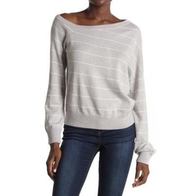 360カシミア レディース ニット&セーター アウター Diane Stripe Print Sweater H.GREY/WHITE