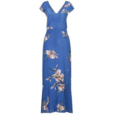 アティックアンドバーン ATTIC AND BARN ロングワンピース&ドレス ブルー 40 シルク 100% ロングワンピース&ドレス
