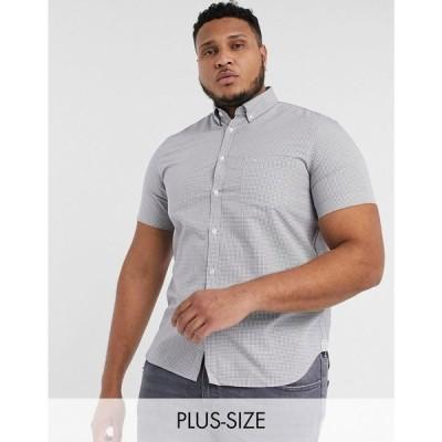 ラコステ Lacoste メンズ シャツ トップス PLUS check shirt グレー