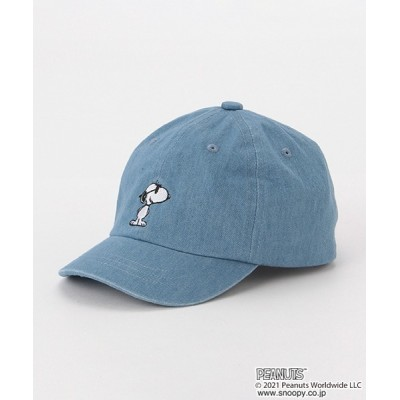 petit main / 【PEANUTS】スヌーピー刺しゅうキャップ KIDS 帽子 > キャップ