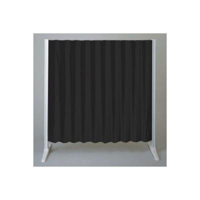 タチカワブラインド アコーデオンスクリーンBタイプNO6103 ブラック 幅1000mm×高さ900mm (直送品)