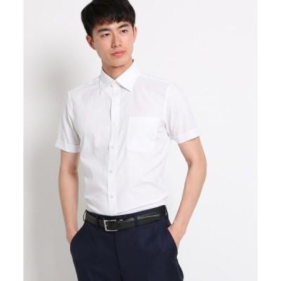 シャツ ブラウス 【抗菌・防臭】ポリジン市松ドビー半袖シャツ