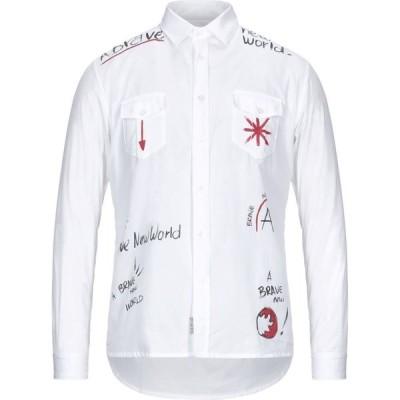 アレッサンドロジェラルデスキ ALESSANDRO GHERARDESCHI メンズ シャツ トップス Solid Color Shirt White