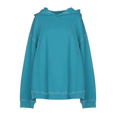 MM6 メゾン マルジェラ MM6 MAISON MARGIELA スウェットシャツ ターコイズブルー M 100% コットン ポリウレタン スウェ