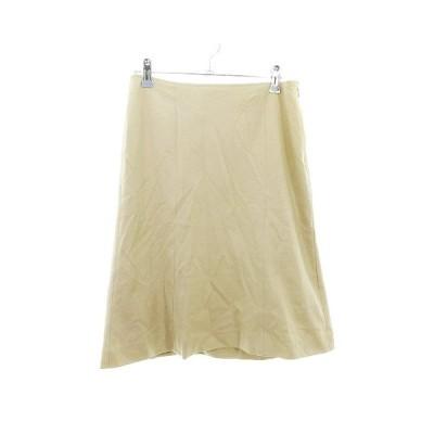 【中古】プロポーション ボディドレッシング PROPORTION BODY DRESSING スカート フレア ひざ丈 無地 4 ベージュ /CK レディース 【ベクトル 古着】