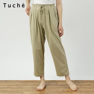 GUNZE グンゼ Tuche 綿100%ゆったりレギンスパンツ(レディース) ライトベージュ M