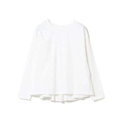 【ビームス ウィメン】 Ray BEAMS / バック フレア ロングスリーブ Tシャツ レディース ホワイト ONESIZE BEAMS WOMEN