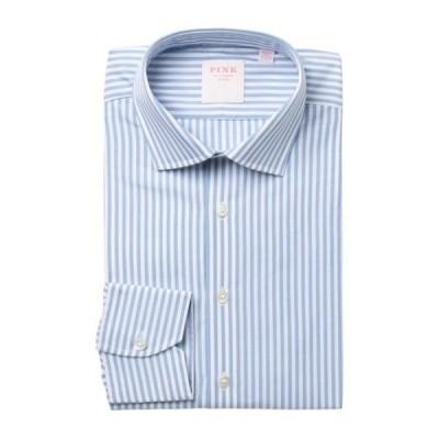 トーマスピンク メンズ シャツ トップス Bengal Wide Stripe Dress Shirt BLUE/WHITE
