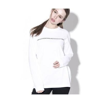 tシャツ Tシャツ KLON LONG T ONE LINES WHITE