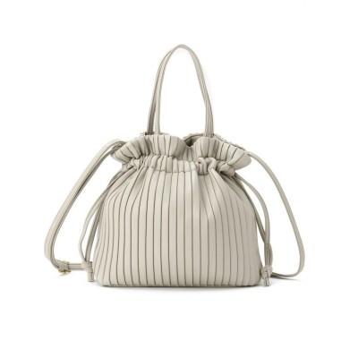 SHOO・LA・RUE/DRESKIP(シューラルー/ドレスキップ) 2WAYプリ-ツ巾着バッグ