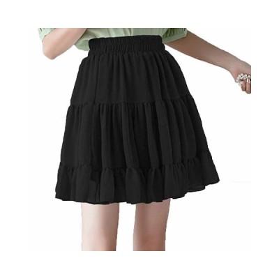 大人 女の子 チュールスカート ミニスカート aライン プリーツ シフォン 韓国 裏地あり 着痩せ 切り替え 薄手 爽やか シンプル 可愛い