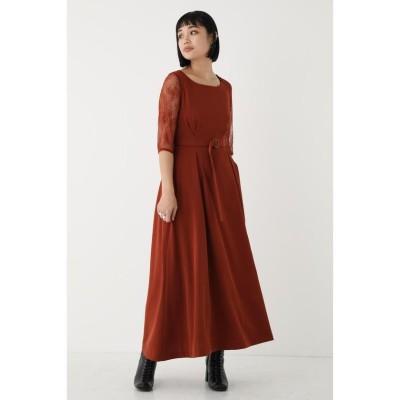 (SHEL'TTER SELECT/シェルターセレクト)レーススリーブクチュールドレス(Lase Sleeve Couture Dress)/ワンピース/レディース BRN