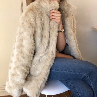 アウター ファー コート エレガント 上品 フェミニン お出かけ 韓国ファッション 大人可愛い きれいめ カジュアル