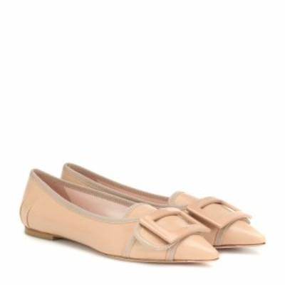 ロジェ ヴィヴィエ Roger Vivier レディース スリッポン・フラット シューズ・靴 Soft Gommettine leather ballet flats Rosa Salmone