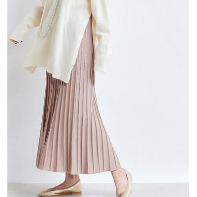 【ドゥドゥ/DouDou】 【WEB限定】ニットプリーツスカート