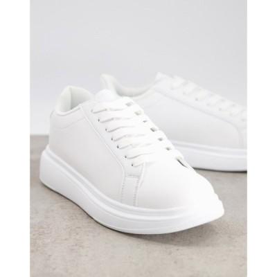 ブレイブソウル Brave Soul メンズ スニーカー レースアップ シューズ・靴 lace up trainer in white ホワイト