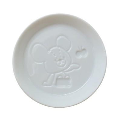 くまのがっこう グッズ 絵柄が浮き出る 醤油皿 小皿 ちょうちょ 金正陶器