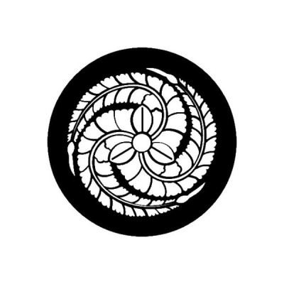 家紋シール 白紋黒地 左三つ藤巴 布タイプ 直径23mm 6枚セット NS23-3646W