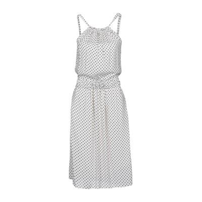 ツインセット シモーナ バルビエリ TWINSET 7分丈ワンピース・ドレス ホワイト 46 レーヨン 100% 7分丈ワンピース・ドレス