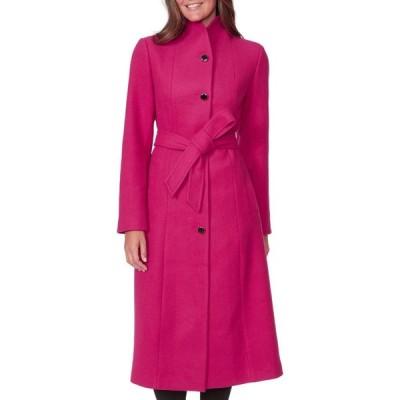 ケイト スペード KATE SPADE NEW YORK レディース コート アウター belted wool blend coat Boysenberry