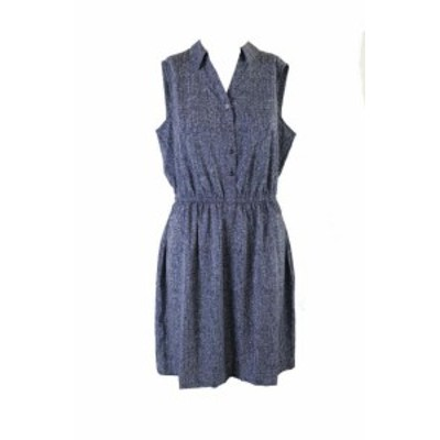 Alfani  ファッション ドレス Alfani Denim Sleeveless A-Line Sleeveless Shirtdress 10