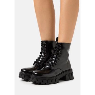 コイ フットウェア ブーツ&レインブーツ レディース シューズ VEGAN BRIGHT SHADOW - Platform ankle boots - matte black